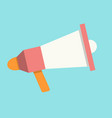 megaphone in flat style vector image vector image