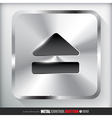 Metal Eject Button vector image vector image
