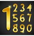 number set in golden style on black background vector image