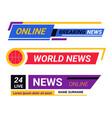 online tv news breaking report broadcast vector image
