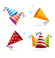 party hat color set vector image