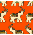 Pattern with Ethnic Elephant vector image