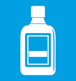 plastic bottle icon white vector image vector image