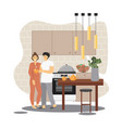 positive family relationship concept flat vector image vector image
