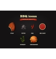 Realistic bbq icons set Top view vector image vector image
