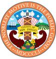 San Diego County Seal vector image vector image
