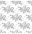 seamless pattern mystical octopus with moon vector image