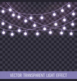 set of overlapping glowing string lights on a vector image vector image