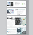 social media and email headers set banners