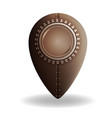 steampunk style location pin icon vector image vector image