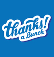 stylized thanks a bunch lettering vector image vector image