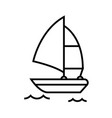 surfing boat line icon concept sign outline vector image vector image
