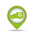 truck recycle icon pin map vector image