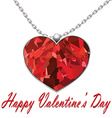 Valentines Day heart pendant on white background vector image vector image