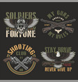 vintage army and military emblems vector image vector image