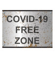 virus free zone sign vector image vector image