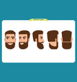 working people business man avatar iconsflat vector image vector image