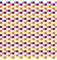 woven seamless pattern color blocks pixel texture vector image vector image