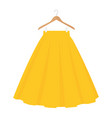 yellow skirt template design fashion woman women vector image vector image