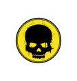 yellow skull logo vector image