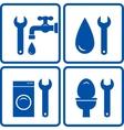 set of plumbing signs vector image