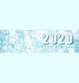 2019 blue christmas typography design winter vector image vector image