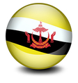 A soccer ball with the flag of Brunei vector image vector image