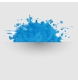 Abstract background with blue paint splashes vector image vector image