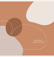 abstract background with organic flowing shapes vector image vector image