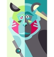 abstract original monkey drawing in flat style vector image