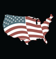 american flag grunge flag design vector image