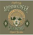 arrow creek great outdoo vector image