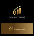 arrow progress business finance gold logo vector image vector image