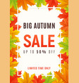 Autumn sale promotion banner poster card