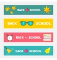 Back to school banner set Bell alarm clock vector image vector image