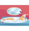 Beautiful girl taking a bath vector image vector image
