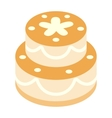 Birthday cake isometric 3d icon vector image