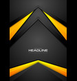 Black and orange contrast abstract tech background