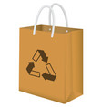 brown recycle paper bag vector image