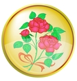 button red rose vector image vector image