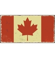 Canadian grunge flag vector image vector image