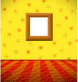 Cartoon childish room with wooden frame vector image vector image