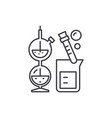 chemistry line icon concept chemistry vector image vector image