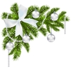 Christmas card Green branch of fir with vector image vector image