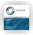 circle company logo business card vector image vector image