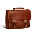 Classic brown leather briefcase vector image vector image