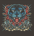 colorful tattoo template vector image vector image