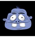 Cute dumb monster head vector image vector image