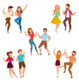 dancing people 5 icons composition vector image