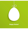Easter card with hanging egg vector image vector image